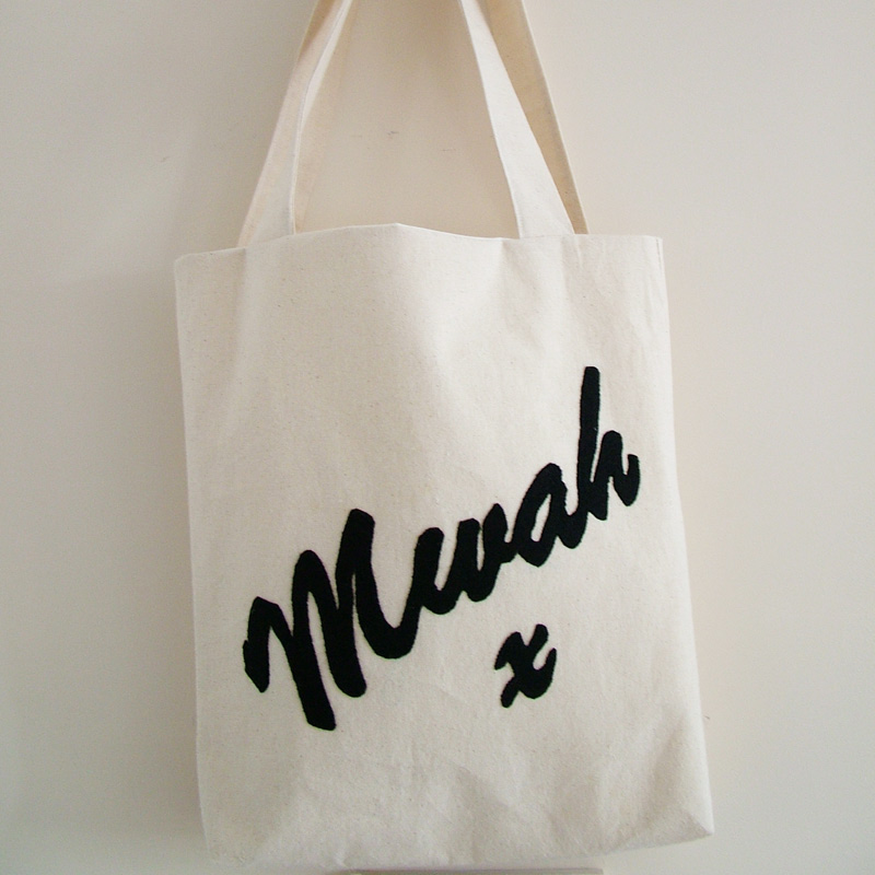 SALE - Heavyweight Canvas Mwah x Tote/Book Bag - Fully lined